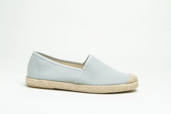 Organic Cotton Espadrilles EVITA PLAIN Sky - Grand Step Shoes